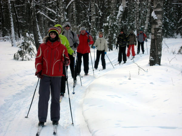 Фотогалерея: 23 февраля и 8 марта на лыжах в Маслово 2019 г.