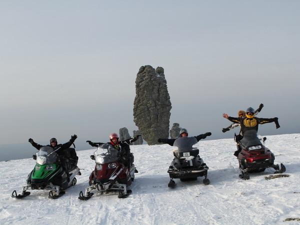 Фотогалерея: Снегоходная экспедиция на плато Маньпупунер. 2018г.